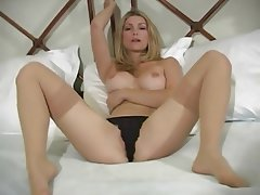 Babe Blonde Lingerie Stockings