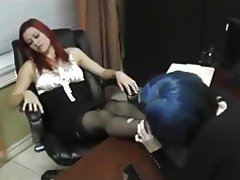 Femdom Foot Fetish Lesbian Stockings