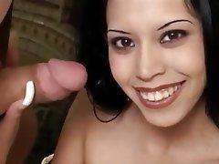 Babe Cumshot Facial Handjob