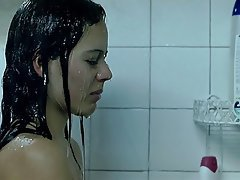 Shower Celebrity Brunette Nipples