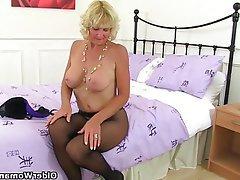 British Granny Mature MILF Nylon