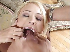 Blowjob Facial Threesome Brunette Anal