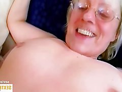 Old and Young Amateur Blowjob Granny