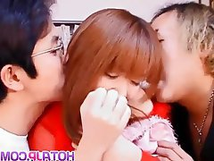 Asian Blowjob Group Sex Japanese Threesome