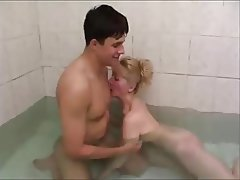 Blowjob MILF Old and Young Shower