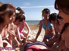 Beach Gangbang Japanese