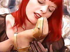Lesbian Redhead Foot Fetish Nylon