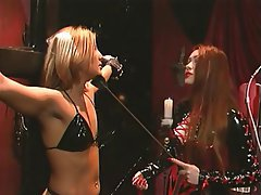 BDSM Blonde Latex Redhead