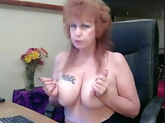 MILF Mature Masturbation Tattoo Webcam