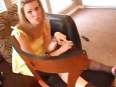 Amateur Blonde Femdom Foot Fetish