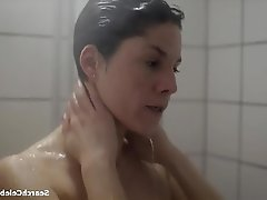 Brunette Celebrity Shower Small Tits