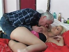 Big Boobs Blonde Blowjob Old and Young