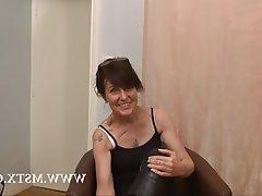 Amateur Brunette Casting French