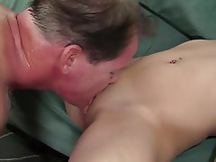 Blonde Small Tits Cunnilingus Facial