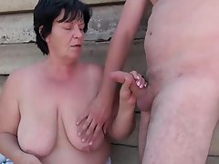 Big Boobs Blowjob Cuckold Granny