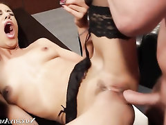 Asian Big Cock Cumshot Secretary Stockings