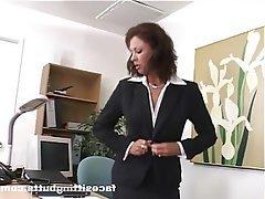 Mature Face Sitting Femdom Secretary