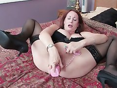 Big Boobs Brunette Masturbation MILF Nylon