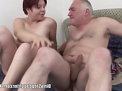 Big Boobs Blowjob Old and Young Redhead