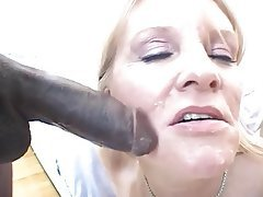 Blowjob Facial Interracial Blonde