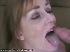 Amateur Blonde Blowjob MILF Old and Young