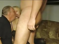 Cuckold German Old and Young Threesome