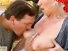 Old and Young Amateur German Granny