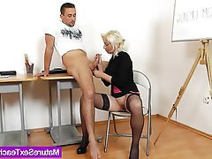 Creampie Cumshot Handjob Mature Old and Young