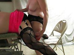 Anal Femdom Stockings Strapon