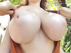 Brunette Big Boobs Pornstar