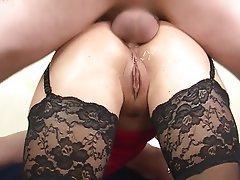 Anal Blowjob Brunette German Threesome