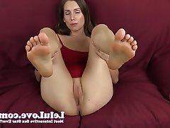 Amateur Brunette Foot Fetish POV