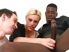Blonde Cuckold Interracial