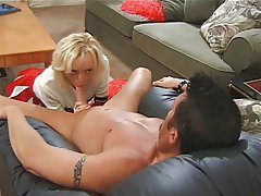Blonde Blowjob Facial Hardcore