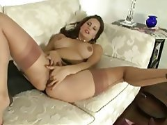 British Masturbation MILF POV Stockings