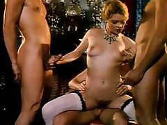 Vintage Group Sex Blowjob Threesome