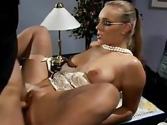 German Lingerie Blowjob Secretary