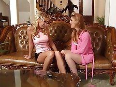 Lesbian Blonde MILF Foot Fetish