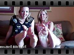 BDSM Femdom Foot Fetish Lesbian Stockings