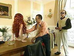 French Group Sex Pornstar Redhead