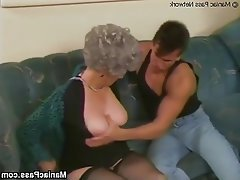 Granny Hardcore Mature Stockings