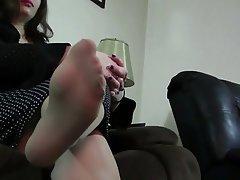 BBW Foot Fetish Nylon Stockings
