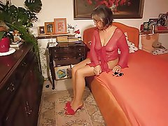 Foot Fetish German Granny Mature