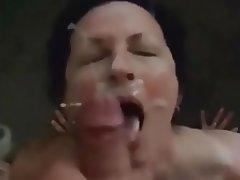 Amateur Cumshot Facial MILF POV