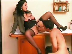 Blowjob Facial Brunette Nylon