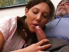 Anal Blowjob Brunette Cumshot