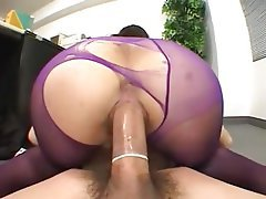 Asian Cumshot Old and Young Stockings