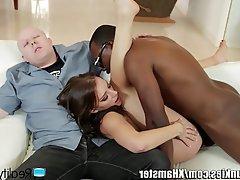 Blowjob Cuckold Cumshot Interracial