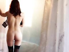Asian Ebony Mature Stockings