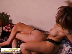 BDSM Femdom Lesbian MILF Strapon